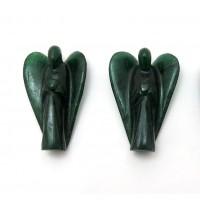 """Green Aventurine (Dark) 2"""" Angels"""
