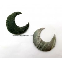 Hand Knapped Drilled Crecent Moon