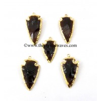 Brandy Color Glass Gold Electroplated Arrowhead