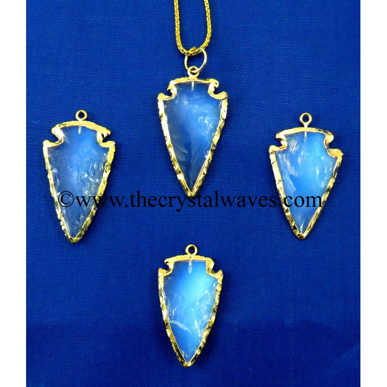 Electroplated Arrowhead And Other Handkanpped Pendants