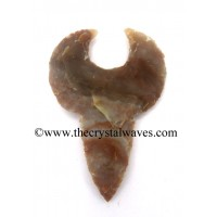 Agate HandKnapped Shark Tooth Shap