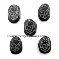 Black Agate Fine Engraved Ganesh