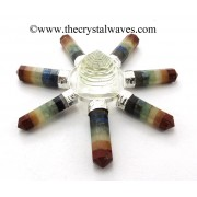 Crystal Quartz Shreeyantra Chakra Bonded Pencil Energy Generator
