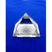 Crystal Quartz / Sfatik  Pyramid Shreeyantra