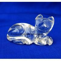 Wholesale Crystal Quartz / Sfatik Hand Carved Cat