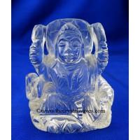 Crystal Quartz Hand Carved Goddess Laxmi Ji