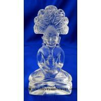 Crystal Quartz Hand Carved  Parshvanath Ji