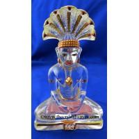 Exclusive Crystal Quartz / Sfatik Hand Carved  Parshvanath Ji