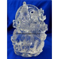 Exclusive Crystal Quartz / Sfatik Hand Carved  Shiva Parivar / Family