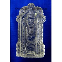 Crystal Quartz Hand  Carved Lord Balaji