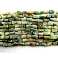 Green Aventurine ( Light) Hand Knapped Rectangle Nuggets