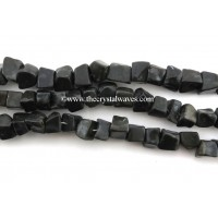 Black Agate Hand Knapped Square Nuggets