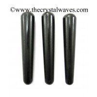 Black Agate Smooth Massage Wands