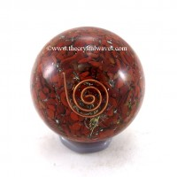 Red Jasper Orgone Ball / Sphere