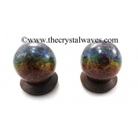7 Chakra Layered Orgone Ball / Sphere