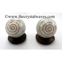 Selenite Chips Orgone Ball / Sphere