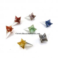 Elongated Orgone Merkaba / Merkaba Angel Stick  Chakra Set