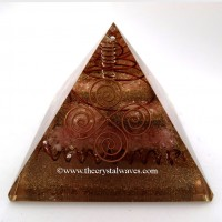 Big Rose Quartz Orgone Pyramid
