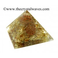 Citrine Chips Orgone Pyramids With Copper Wrrapped Crystal Point