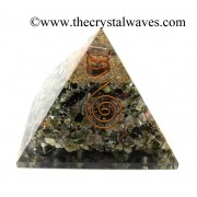 Multi Tourmaline Chips Orgone Pyramids With Copper Wrrapped Crystal Point