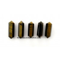 "Tiger Eye Agate 1"" - 1.50"" Double Terminated Pencil"