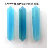 "Blue Chalcedony 1.50 - 2"" Double Terminated Pencil"