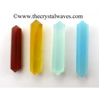"Mix Chalcedony 1.50 - 2"" Double Terminated Pencil"