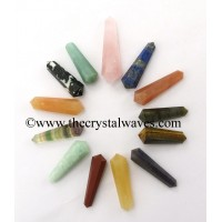 "Mix Assorted Gemstone 2 - 3"" Double Terminated Pencil"
