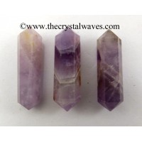 "Chevron Amethyst 2 - 3"" Double Terminated Pencil"