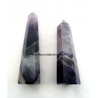 Chevron Amethyst 1.5 to 2 Inch Pencil 6 to 8 Facets