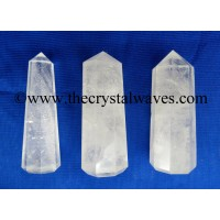 Crystal Quartz B Grade 1.5 to 2 Inch Pencil 6 to 8 Facets