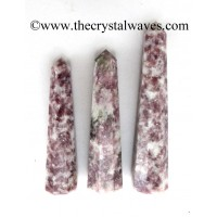 Lepidolite 1.5 to 2 Inch Pencil 6 to 8 Facets
