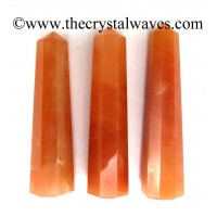 Red Aventurine 1.5 to 2 Inch Pencil 6 to 8 Facets