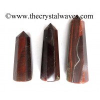 Red Tiger Eye Agate 1.5 to 2 Inch Pencil 6 to 8 Facets
