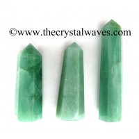 Green Aventurine (Light) 1.5 to 2 Inch Pencil 6 to 8 Facets