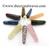 Mix Gemstone 1.5 to 2 Inch Pencil 6 to 8 Facets