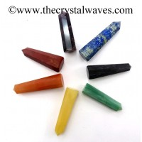 "2"" to 3"" Pencil 6 to 8 Facets Chakra Set"
