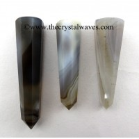 Grey Khayaldar Agate 1.5 to 2 Inch Pencil 6 to 8 Facets