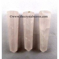 Rose Quartz Light Color 1.5 to 2 Inch Pencil 6 to 8 Facets