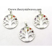 Tree Of Life Chakra Metal Pendant