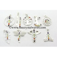 Mix Assorted Shapes Chakra Metal Pendant