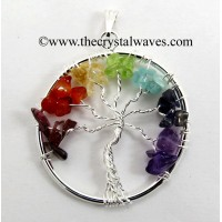 Chakra Chips Tree Of Life Pendant
