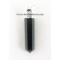 Black Agate Capped Pencil Pendant