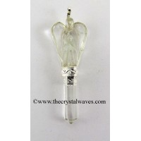 Crystal Quartz Angel 2 Pc Pendant