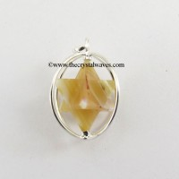 Lace Agate Merkaba Cage Pendant
