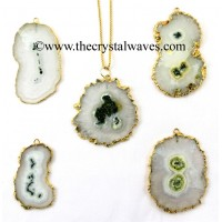 Solar Quartz Regular Size Freeform Pendant