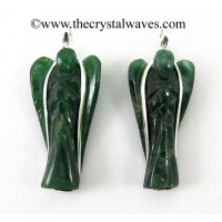 Green Aventurine (Dark) Angel Wire Wrapped Pendant