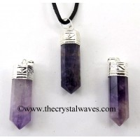 Amethyst Capped Pencil Pendant
