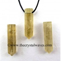 Citrine Quartz Pencil Pendant