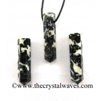 Black & White Tourmaline Pencil Pendant